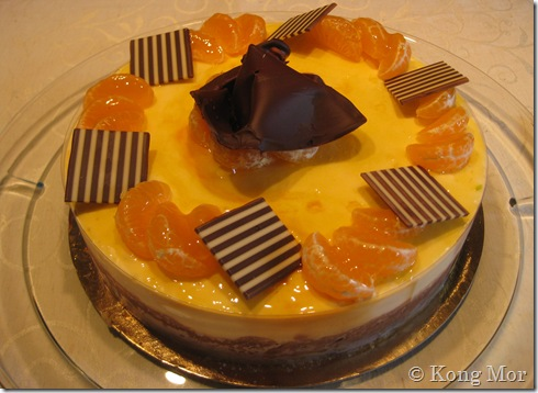 Mousse aux mandarines et chocolat