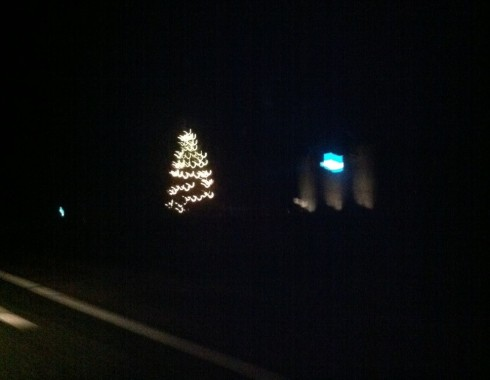Juletræ på motorvejen
