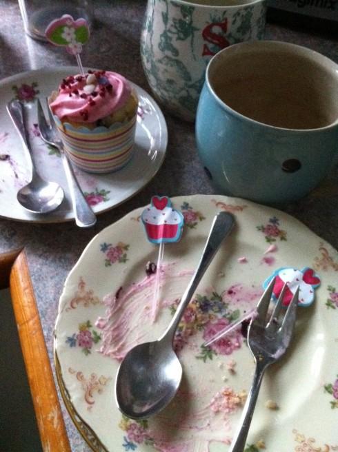 Te og cupcakes